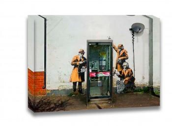 Tela Fairview Road And Hewlett Road in Cheltenham, Gloucestershire de Attributed To Banksy