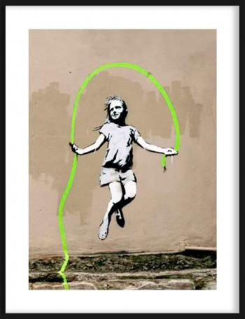 Quadro Girl North 6th Avenue, NYC de attributed to Banksy