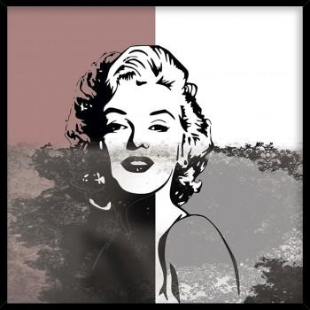 Quadro Marlyn black and pink