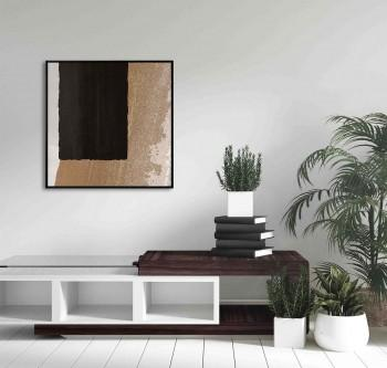 Tela A Black Rectangle in Brown I de Sheila Amerssonis