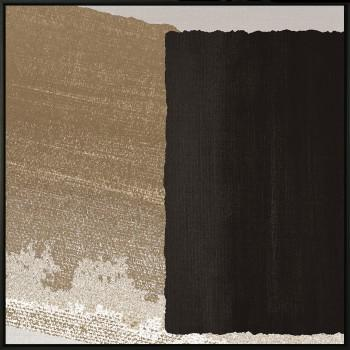 Tela A Black Rectangle in Brown II de Sheila Amerssonis