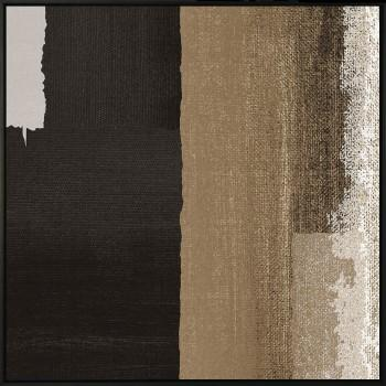 Tela A Black Rectangle in Brown III de Sheila Amerssonis
