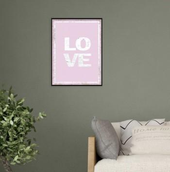 Quadro Love in Pink