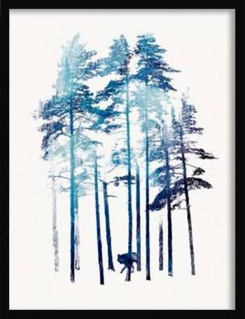 Quadro Winter Wolf de Robert Farkas
